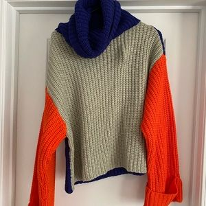 vici dolls orange and blue turtleneck